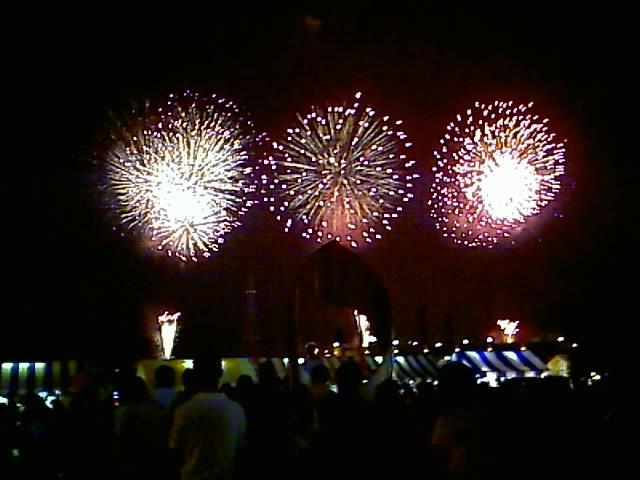 海上花火!で祭りも終焉。