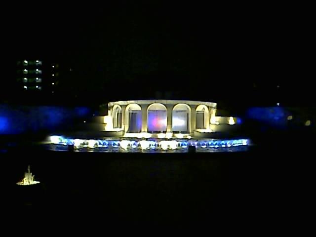 常盤公園の噴水ライトアップ!