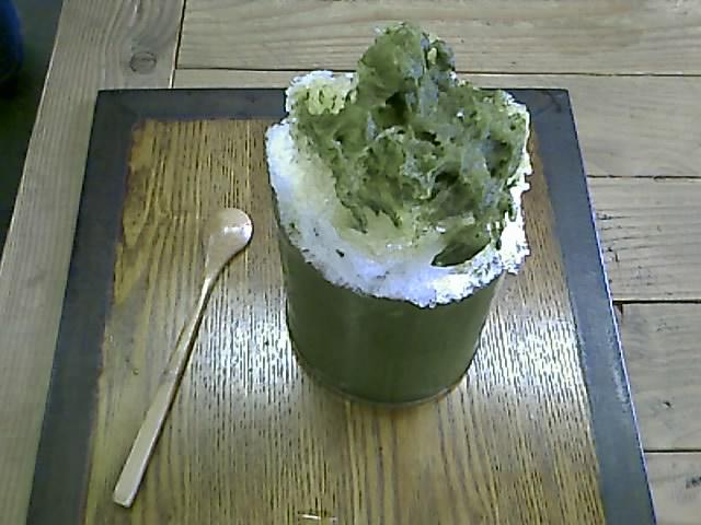 浜佐園の煎茶かき氷!