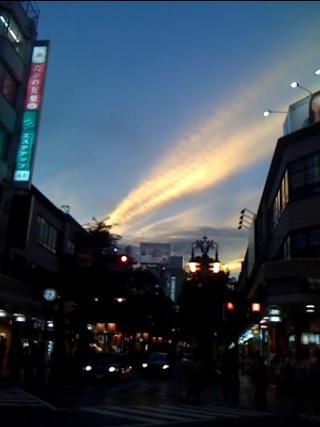 夕方の空!