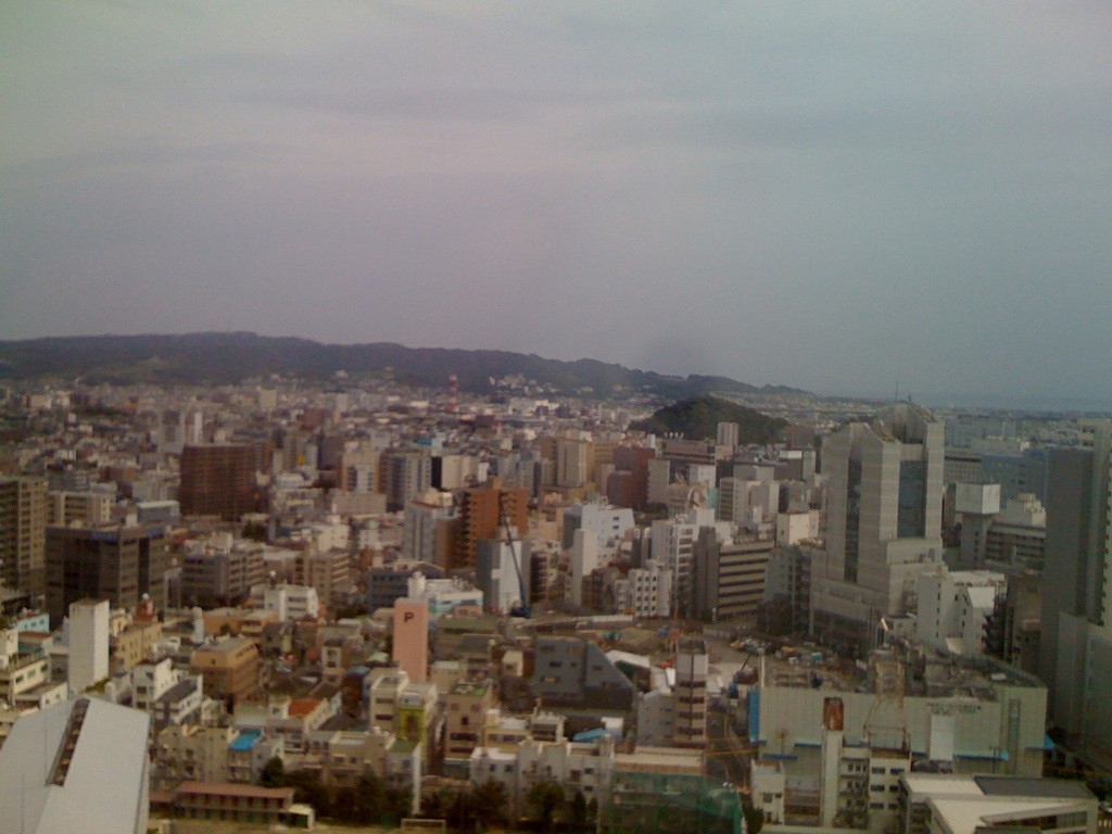 県庁の展望室から見た日本平!