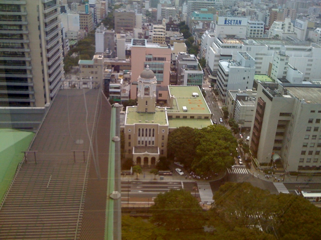 静岡県庁の展望室から見た静岡市役所葵区役所本館!