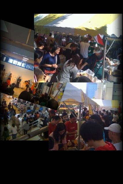 今日は国際交流フェスティバルでした。