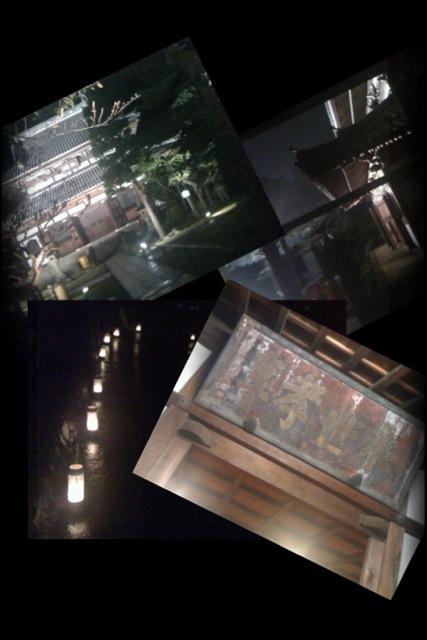 興津の清見寺のライトアップ!