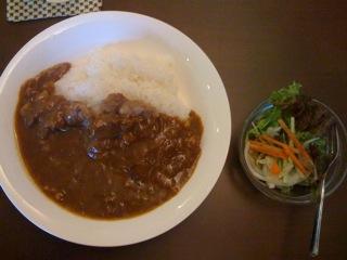 マグロのほほ肉カレー