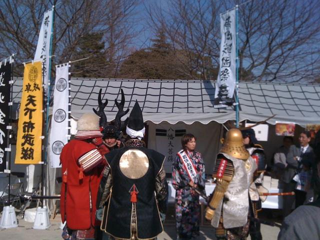 静岡戦国祭開催中@駿府公園!