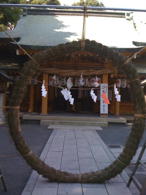 茅の輪くぐり@おぐし神社(静岡PARCO前)
