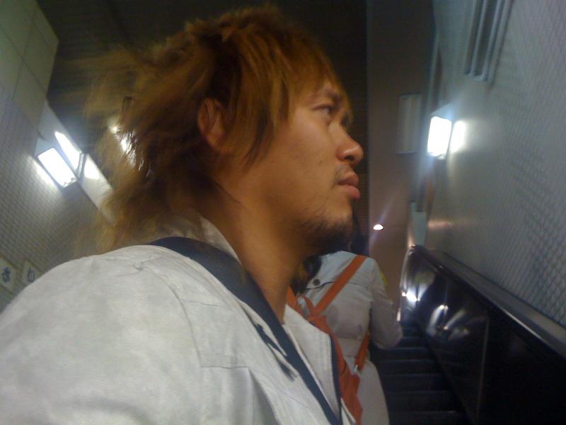 人生二度目のもんじゃ@月島 この人は新日本プロレスの!